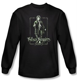 The Hobbit Shirt Movie Unexpected Journey Bilbo Black Long Sleeve