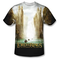 The Lord Of The Rings Fellowship Poster Sublimation Shirt