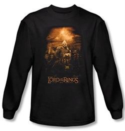 Image of Lord Of The Rings Long Sleeve T-Shirt Riders of Rohan Black Tee