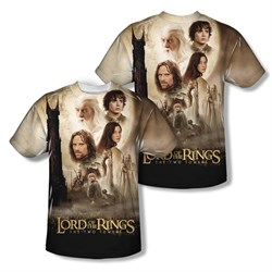 Image of The Lord Of The Rings Towers Poster Sublimation Kids Shirt Front/Back Print