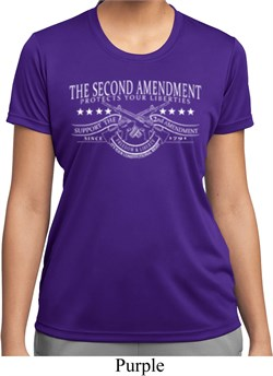 The Second Amendment Ladies Moisture Wicking Shirt