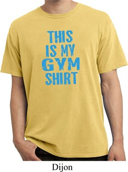 This Is My Gym Shirt Pigment Dyed Shirt