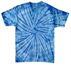 Image of Tie Dye T-shirt Spider Baby Blue Retro Vintage Groovy Adult Tee Shirt