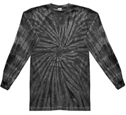 Tie Dye Long Sleeve Shirt Spider Black Kids Tee