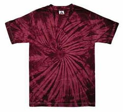 Image of Tie Dye T-shirt Spider Crimson Retro Vintage Groovy Adult Tee Shirt