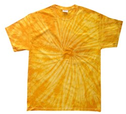 Image of Tie Dye T-shirt Spider Gold Retro Vintage Groovy Adult Tee Shirt