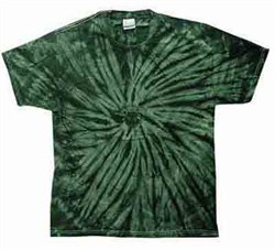 Image of Tie Dye T-shirt Spider Green Retro Vintage Groovy Adult Tee Shirt