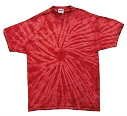 Image of Tie Dye T-shirt Spider Red Retro Vintage Groovy Adult Tee Shirt