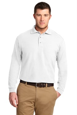 Image of Port Authority Polo Sport Shirt Long Sleeve Silk Touch Polo