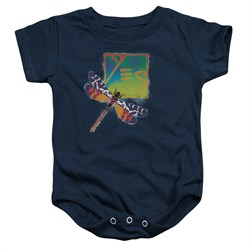 Yes Baby Romper Dragonfly Navy Infant Babies Creeper