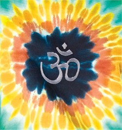 Image of Aum Sunflower Yoga Patch Shirt - Tie Dye Tee