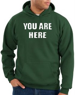 Image of You Are Here Hoodie Dark Green