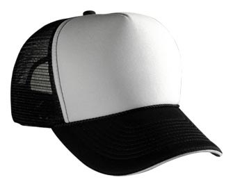 Professional Two Tone Mesh Hat ? Polyester Foam Front Adjustable Cap