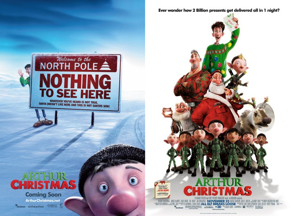 AutographsForSale Arthur Christmas mini movie poster set (2) at Sears.com