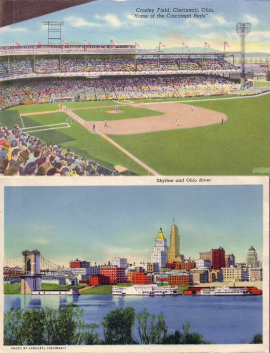 AutographsForSale Cincinnati Reds Crosley Field 1940s postcard size photo at Sears.com
