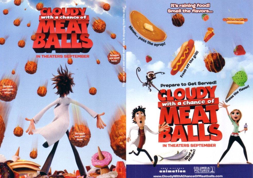 AutographsForSale Cloudy with a Chance of Meatballs movie 5x7 scratch and sniff promo flyer at Sears.com