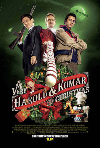 AutographsForSale A Very Harold and Kumar 3D Christmas mini movie poster (Kal Penn John Cho Neil Patrick Harris) at Sears.com