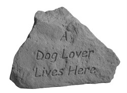 A Dog Lover Lives Here Engraved Stone