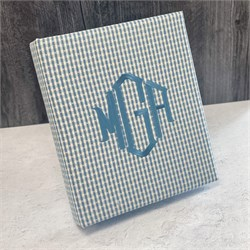 Gingham Check Personalized Baby Memory Book KBRE-9