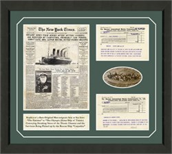 New York Times Titanic Framed Print AR-101