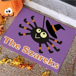 Personalized Spider Halloween Welcome Mat - Small PG831966671