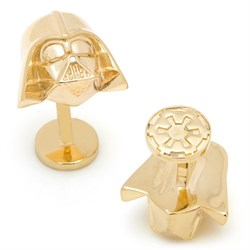 Special Edition 14K Gold Darth Vader Cufflinks SW-DVH-GL