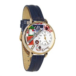 Coffee Lover Watch In Gold Large G-0310006