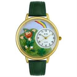 St. Patrick's Day Watch (Rainbow) in Gold (Large) G-1224002
