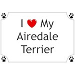 Airedale Terrier T-Shirt I Love My