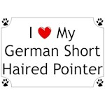 German Shorthaired Pointer T-Shirt I Love My