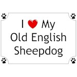 Old English Sheepdog T-Shirt I Love My