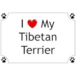 Tibetan Terrier T-Shirt I Love My