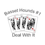 Basset Hound T-Shirt #1 Deal With It