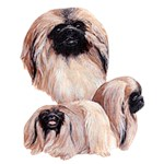 Pekingese T-Shirt Best Friends