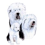 Old English Sheepdog T-Shirt Best Friends