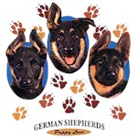 German Shepherd T-Shirt Puppies and Paws