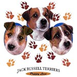 Jack Russell Terrier T-Shirt Puppies and Paws