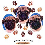 Pug T-Shirt Puppies and Paws