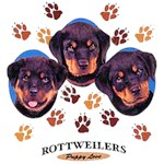 Rottweiler T-Shirt Puppies and Paws