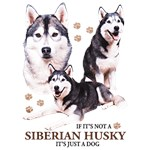 Siberian Husky T-Shirt Puppies and Paws