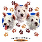 Westie T-Shirt Puppies and Paws