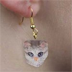 Tabby Cat Earrings