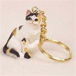 Calico Cat Keychain