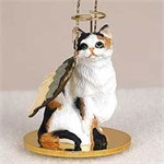Calico Cat Christmas Ornament