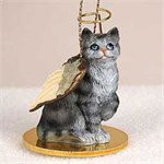 Tabby Cat Christmas Ornament Angel