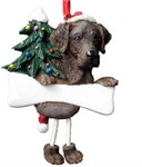 Chocolate Lab Christmas Ornament