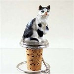 Tabby Cat Bottle Stopper