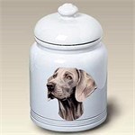 Weimaraner Treat Jar