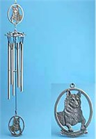 10459 Siberian Husky Windchime