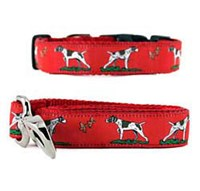 German Shorthaired Pointer Collar & Leash Red